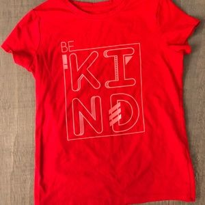 Red BE KIND t-shirt